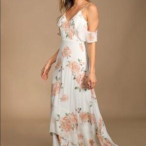 Lulu's Dresses - IVORY FLORAL PRINT MAXI DRESS